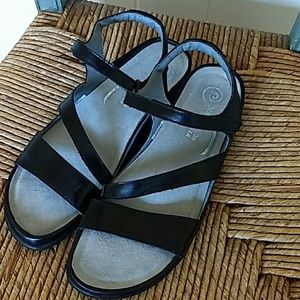 NAOT 39 Leather Upper Velcro Closure Sandals
